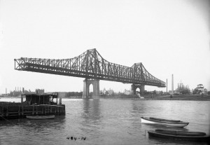Queensboro Bridge Bauphase ca. 1907