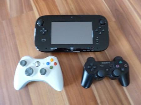 Wii U -, Xbox360- und PS3 Controller im Vergleich